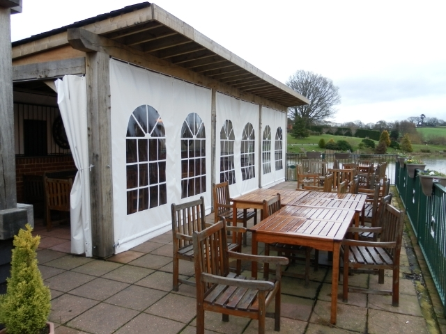 Outside seating Hawkhurst Fish Farm