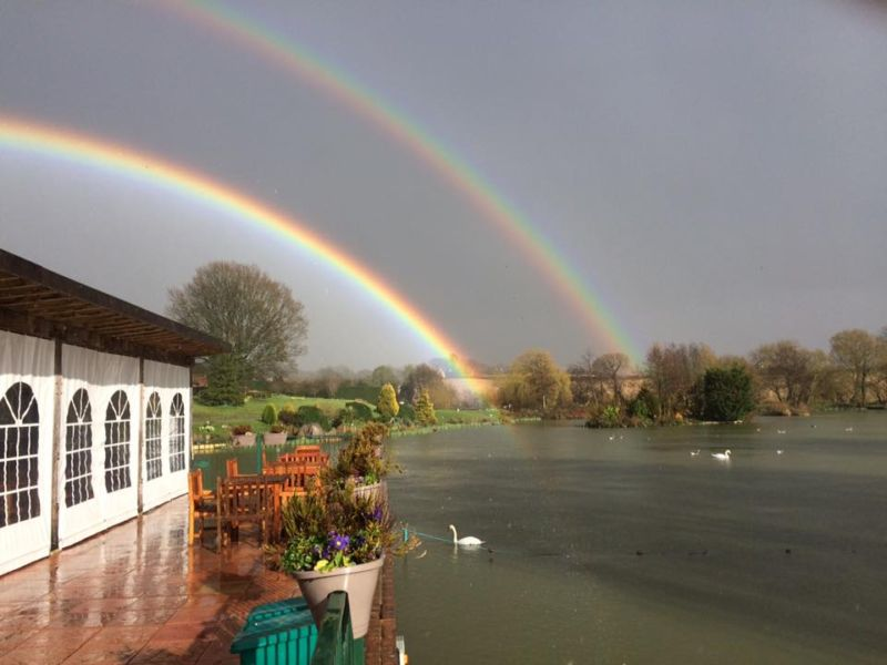 Rainbow over Waterside Cafe