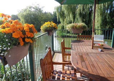 Waterside Cafe outside seating area
